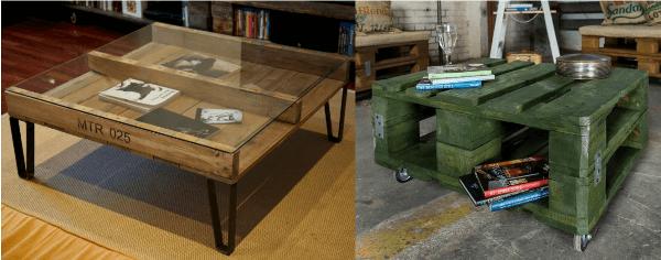 ejemplos de mesas de caf hechas con palets reciclados