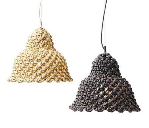 Ideas para decorar con macramé diseños de lámparas colgantes