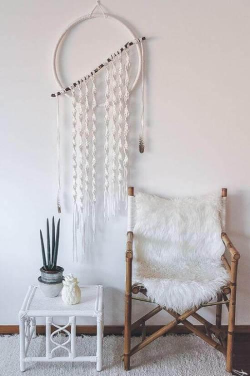 Ideas para decorar con macramé colgantes artesanales