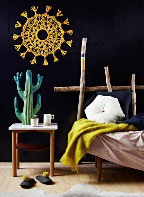 Idea original para decorar con macramé para la pared