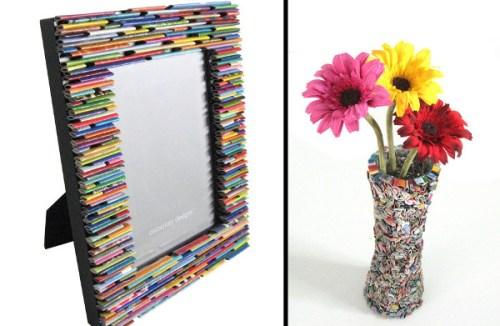 Reciclaje de papel ideas para decorar