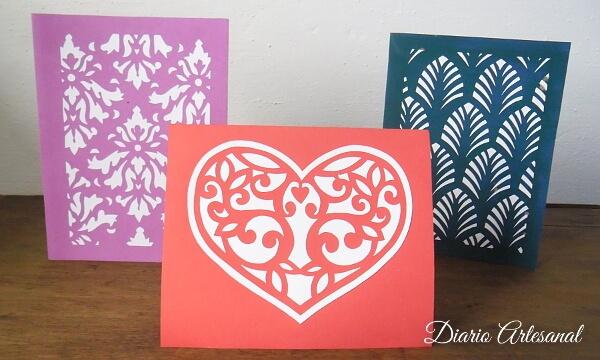 Tarjetas de cartulina para un regalo especial