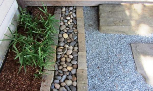 Canteros hechos con piedras