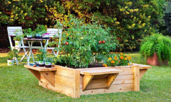 Huerta elevada para hacer en el jardin