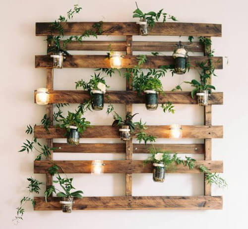 Jardines verticales con palets modelos paso a paso Jardin vertical en palets