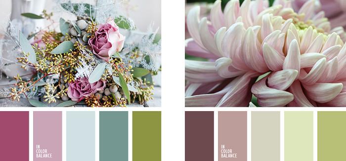 Colores vintage paleta lilas