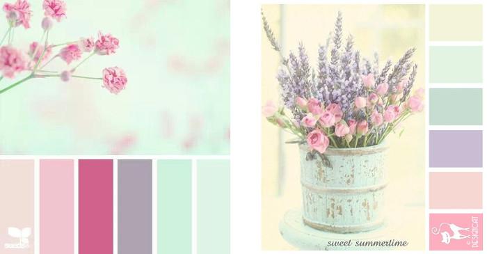 30 paletas de colores vintage y shabby para la decoraci n diario artesanal - Que colores combinan con el lila ...