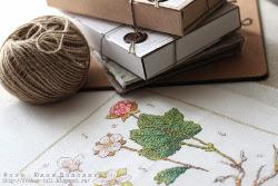 Manualidades bordado botanico