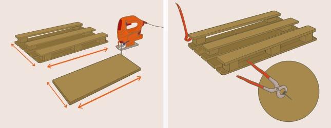 Desmontar un palet para hacer un escritorio