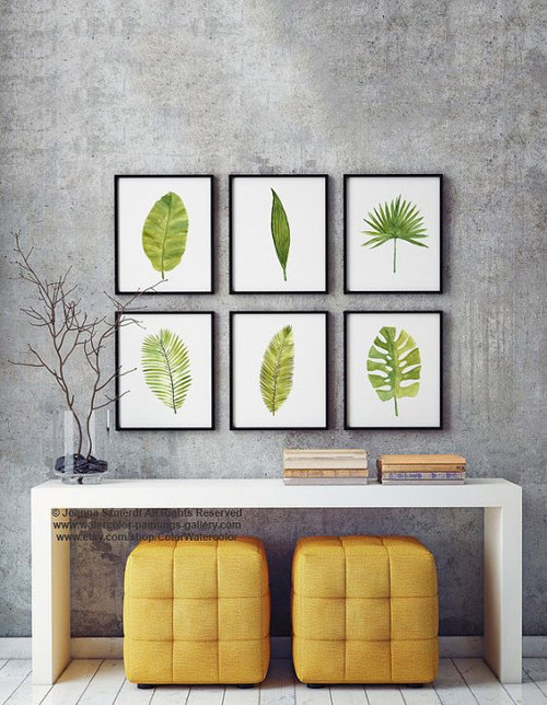 Cuadros de plantas pintadas