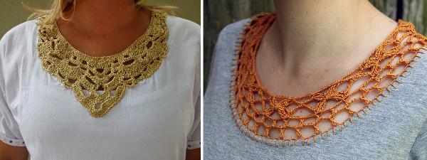 Ideas para tejer el cuello de una camiseta vieja