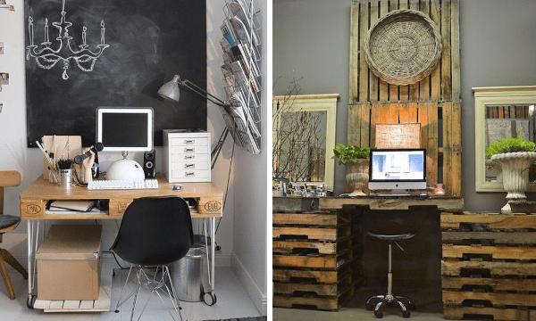 Escritorios con palets c mo hacer un escritorio con - Modelos de escritorios de madera ...