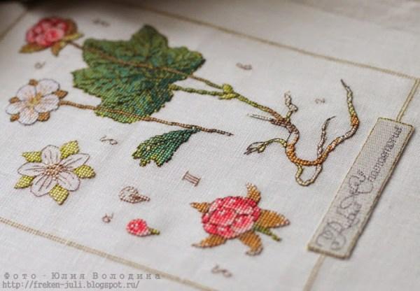Manualidades bordado con motivo botánico