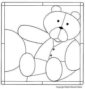 Patron oso aplicaciones patchwork bebe