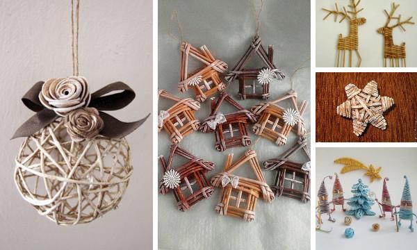 Adornos navide os de papel peri dico tejido tutoriales - Adornos navidenos artesanales ...