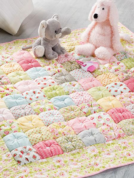 Puff quilt edredon patchwork bebe