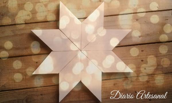 Estrella de navidad con pallets