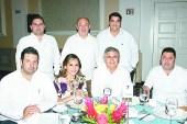 Eugenio Gallegos, José González, Domingo Calcáneo, Carlos Villegas, Diana Plata y Enrique Carrizal