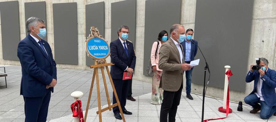 Inauguran el Paseo Lucía Yarza en recuerdo de la fundadora de Cervezas LA SALVE