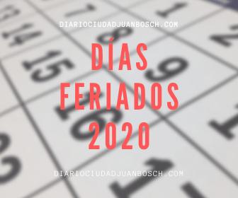 CONOCE LOS DÍAS FERIADOS DEL 2020