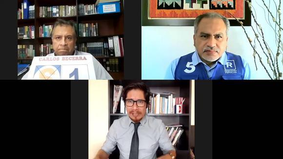 Candidatos de Perú Patria Segura y Renovación Popular debaten en Diario Correo