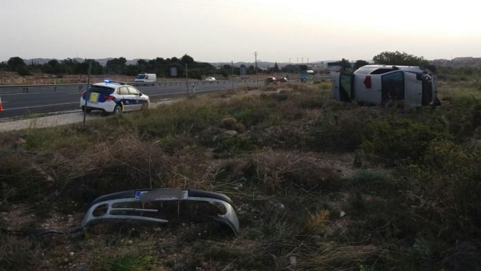 aparatoso accidente Diario de Alicante