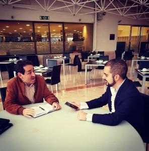 Manuel Mestre interviniendo durante la entrevista/ Alex Ferrer.