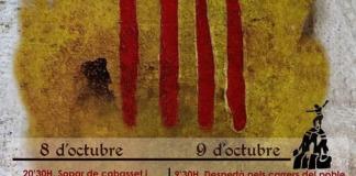 """El cartel de la festividad del 9 d'Octubre en Novelda donde aparece el término """"País Valencià"""" /VOX Alicante"""