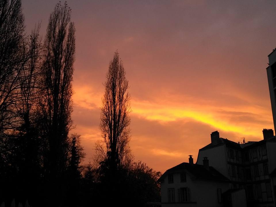 Apuesta de sol en Mulhouse