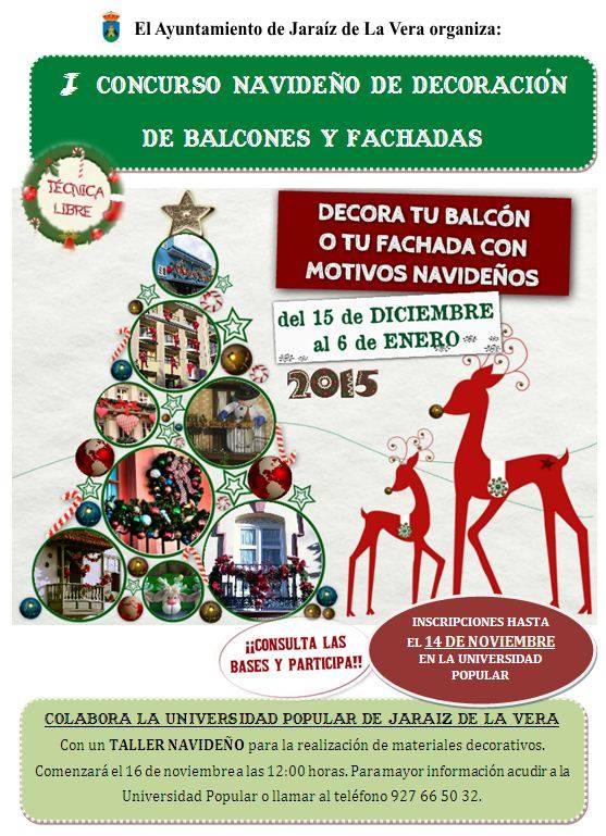 I Concurso navideño de decoración de Balcones y Fachadas en Jaraíz de la Vera