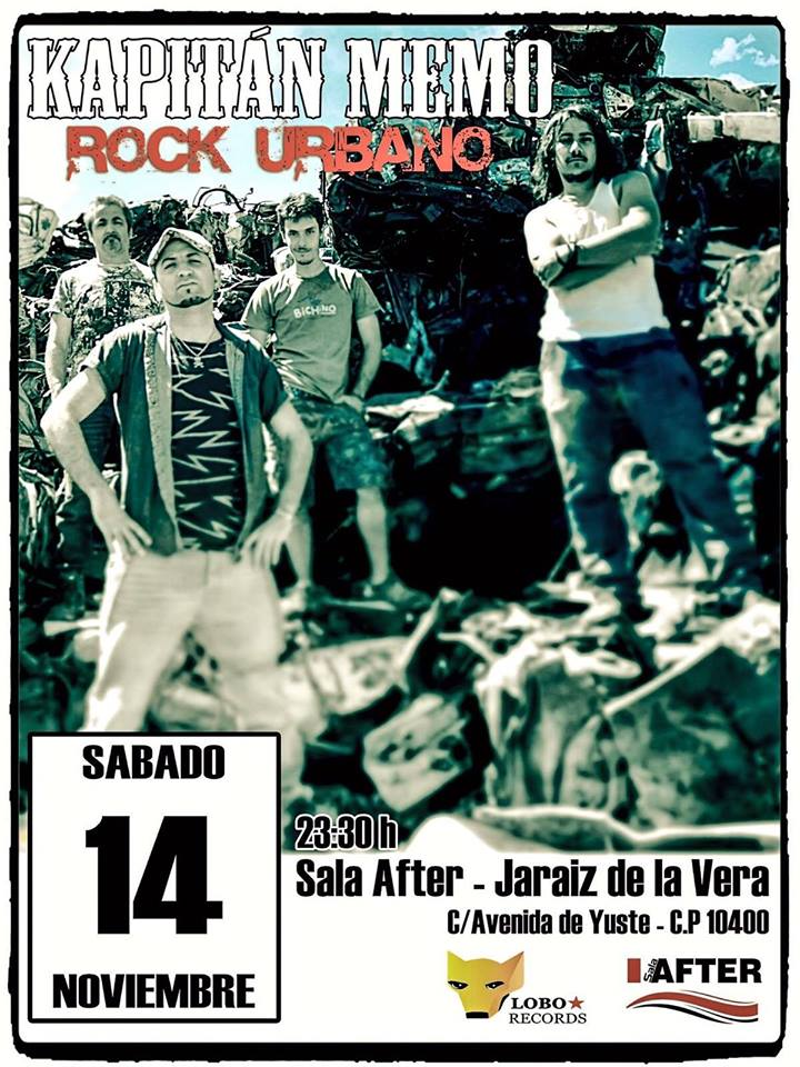 Sala AFTER -KAPITAN MEMO + Versiones- Rock en directo