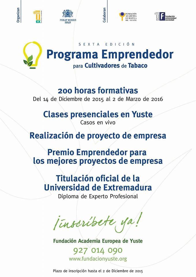 VI Edición Programa Emprendedor para Cultivadores de Tabaco