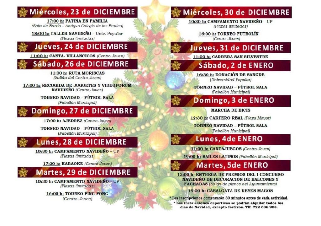 Programación de Navidad en Jaraíz de la Vera