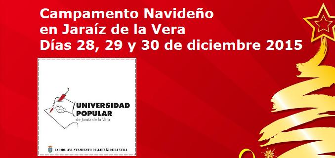 Campamento NAVIDEÑO en la Universidad Popular de Jaraíz de la Vera