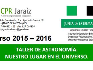 Taller de Astronomía organizado por el CPR de Jaraíz de la Vera