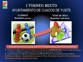 I Torneo Mixto de Futbolín y Tenis de Mesa