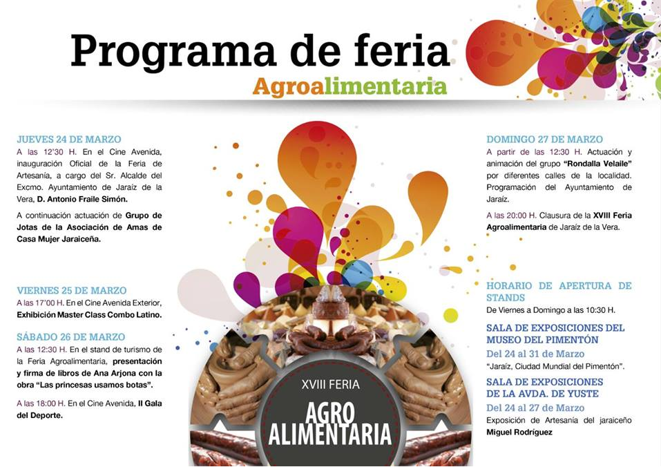 Programa XVIII Feria Agroalimentaria Comarca de la Vera