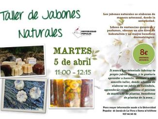 Taller de Jabones Naturales en la Universidad Popular de Jaraíz