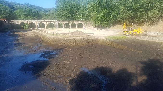 Limpieza del Lago Alonso Vega y Charco Las Tablas.