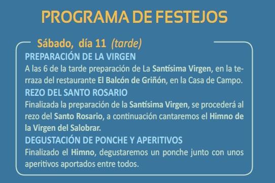 Programa de Festejos - Sábado 11 de Junio