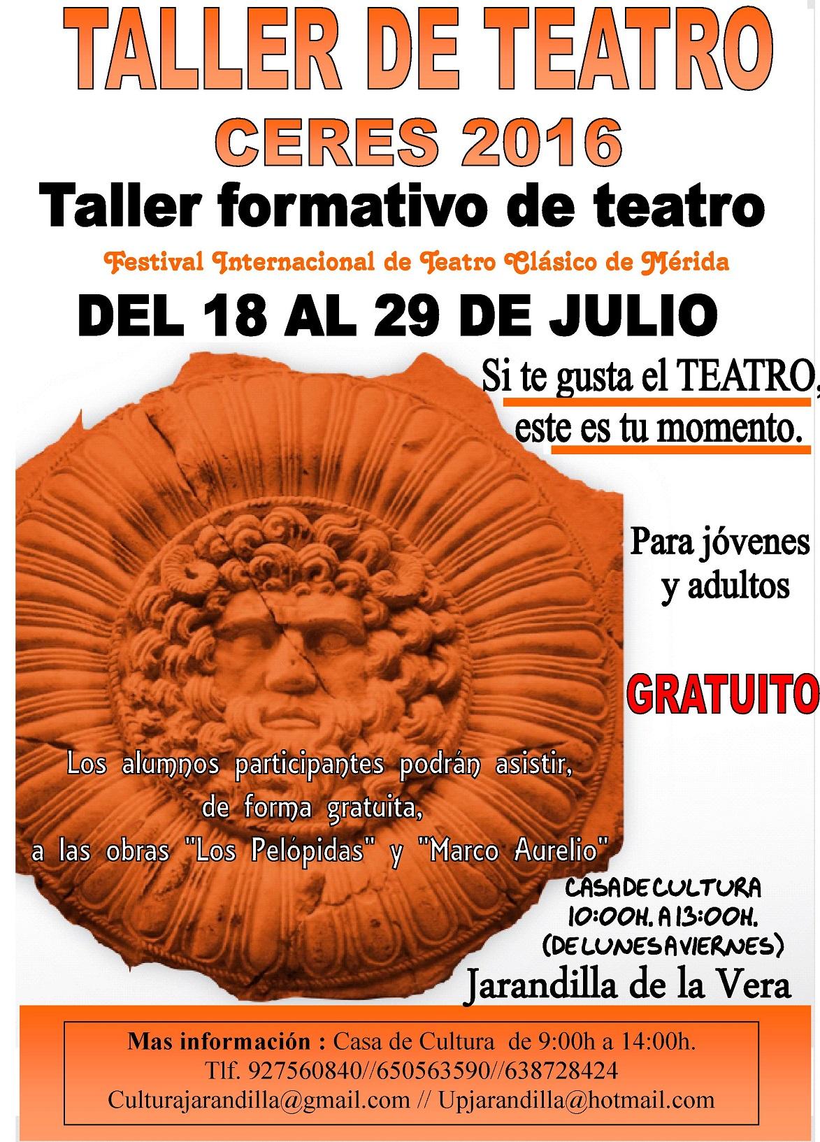 TALLER DE TEATRO CERES