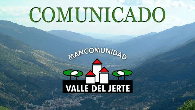 COMUNICADO de la Mancomunidad de Municipios del Valle del Jerte