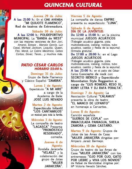 Quincena Cultural Jaraíz de la Vera 2016