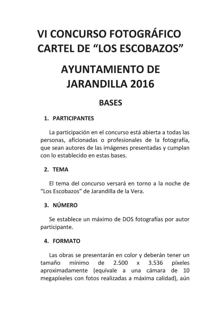Bases 2016 VI Concurso fotográfico Cartel de los Esobazos