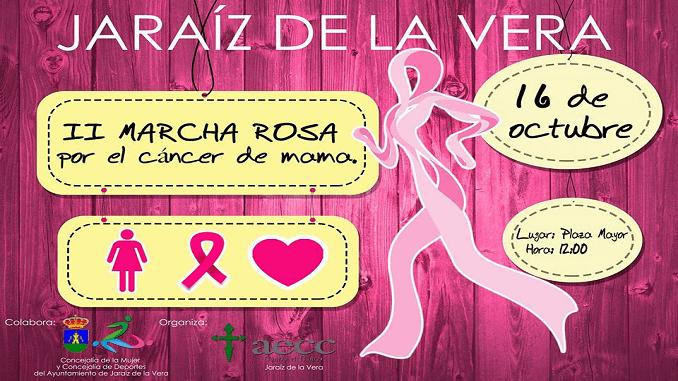 II Marcha Rosa por el cáncer de mama el domingo 16 de Octubre en Jaraíz de la Vera