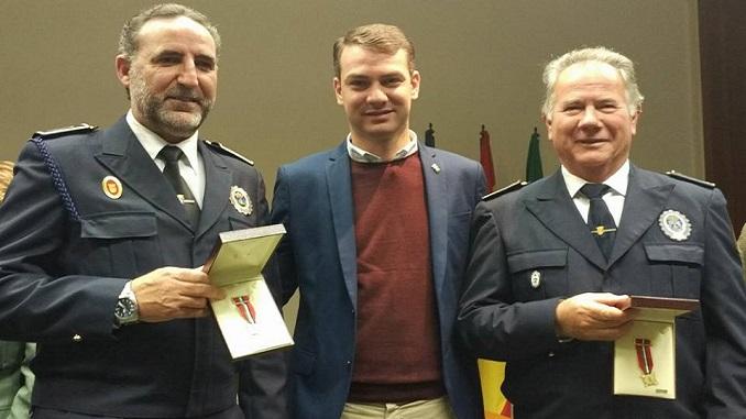Medalla de oro y plata para los policía jaraiceños Ángel García y Miguel Ángel Labrador