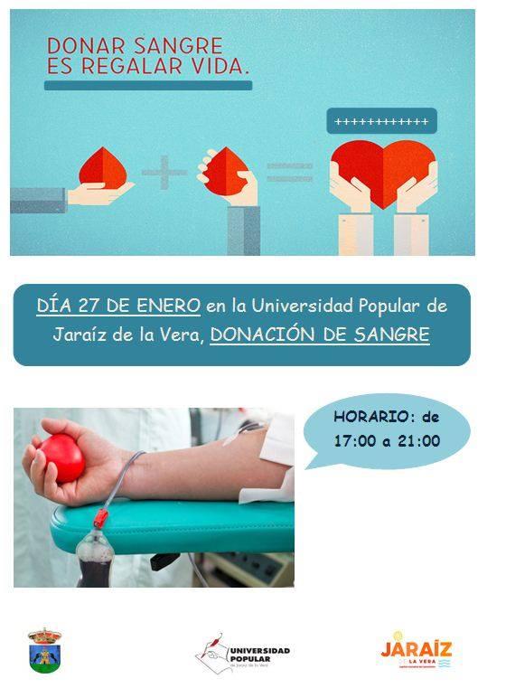 Donar Sangre el 27 de Enero del 2017