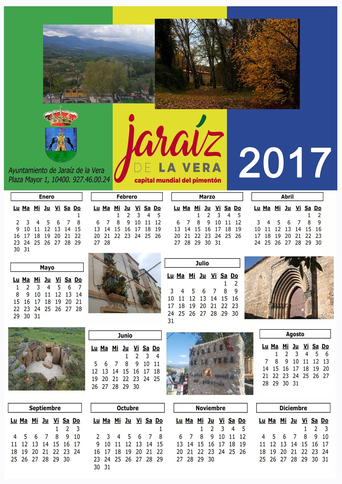 """Ganadores del concurso de fotografía """"Una mirada a Jaraíz"""" - CALENDARIO 2017"""
