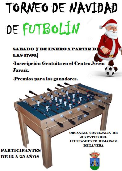 Torneo de Fútbolin Navidad 2016