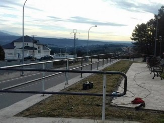 Instalación de una valla modular en el Parque Mirador de Gredos